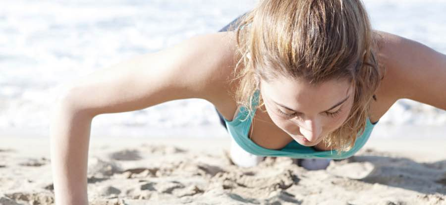 Picture of a girl doing a push up