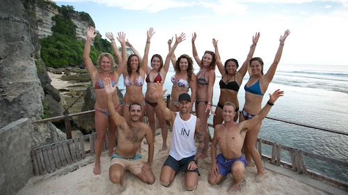 retreat group photo at uluwatu