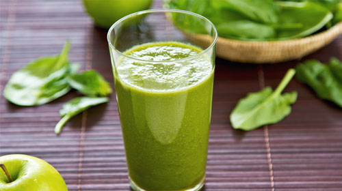 Photo of a green healthy juice